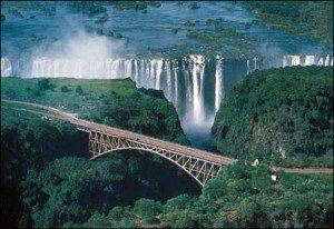 Hùng vĩ thác Victoria Zimbabwe của Châu Phi