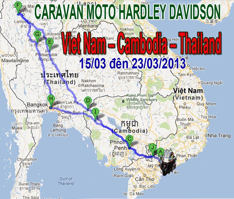 caravan bang xe gan may 3 nuoc viet nam - campuchia - thai lan