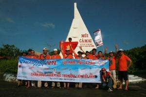 Caravan chinh phục 4 điểm cực VN: Ngày đầu cho Mũi Cà Mau