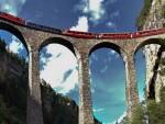 Cau duong sat Landwasser Viaduct