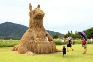 Độc đáo lễ hội nghệ thuật rơm tại Nhật Bản