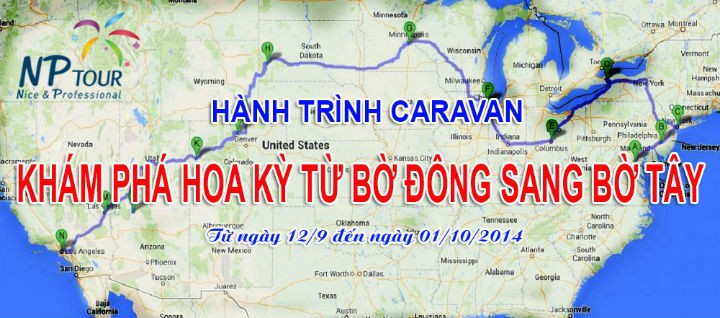 Caravan kham pha Hoa Ky