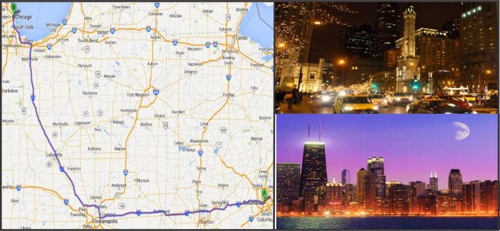 Doan caravan khoi hanh di Chicago