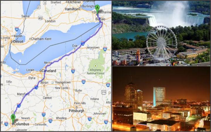 Doan caravan tham quan Niagara Falls